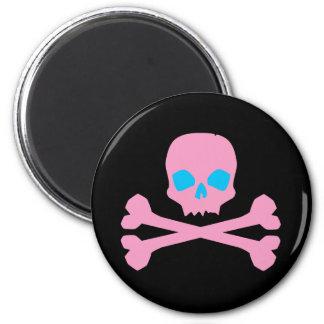 Pink Skull and Bones Magnet