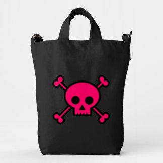 Pink Skull and Cross Bones Duck Bag