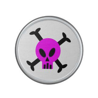 Pink Skull And Crossbones Bumpster Speakers