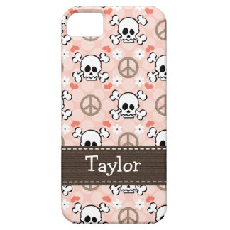 Pink Skull and Crossbones iPhone 5 Case