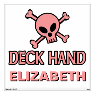 Pink Skull and Crossbones - Deck Hand Wall Decal