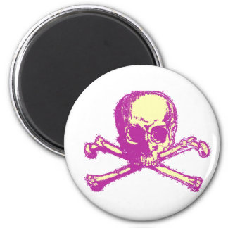 Pink Skull and Crossbones Fridge Magnet