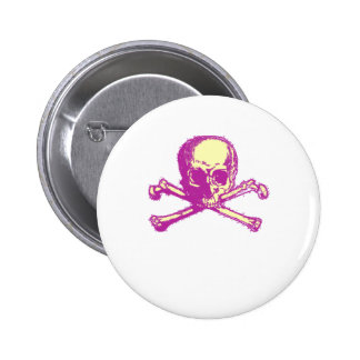 Pink Skull and Crossbones Pin
