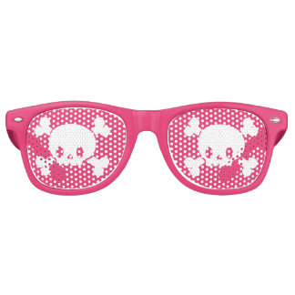 Pink Skull and Crossbones Pirate Glasses