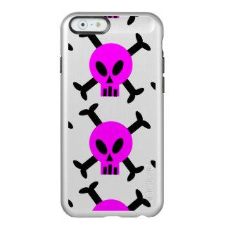 Pink Skull And Crossbones Shine iPhone 6 Case Incipio Feather® Shine iPhone 6 Case
