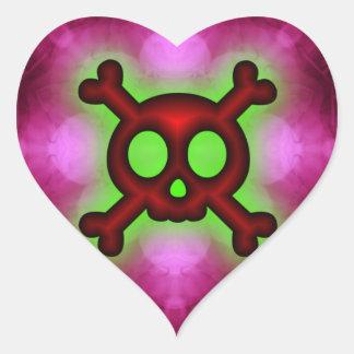 Pink skull and Crossbones Sticker