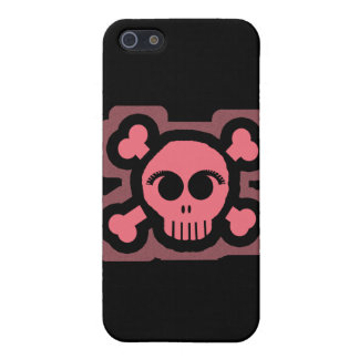 Pink Skull and Crossed Bones iPhone SE/5/5s Cover