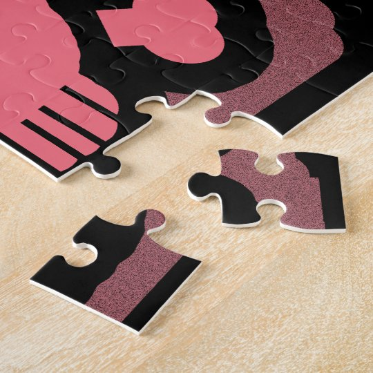 Pink Skull and Crossed Bones Jigsaw Puzzle
