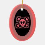 Pink Skull and Crossed Bones Christmas Tree Ornament