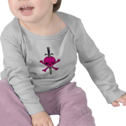 Pink Skull and Sword Tee Shirts