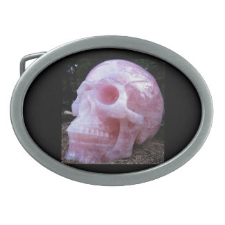 Pink skull belt buckle