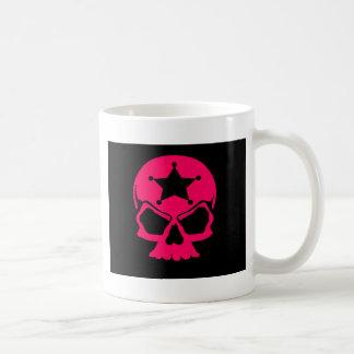 Pink Skull (black background) Coffee Mug
