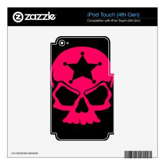Pink Skull (black background) iPod Touch 4G Skin
