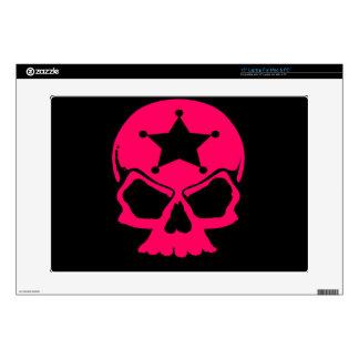 Pink Skull (black background) Laptop Decals