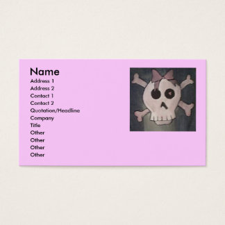 Pink Skull Business Cards