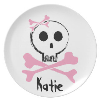 Pink Skull Candy Decorative Plate