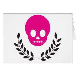Pink Skull Card