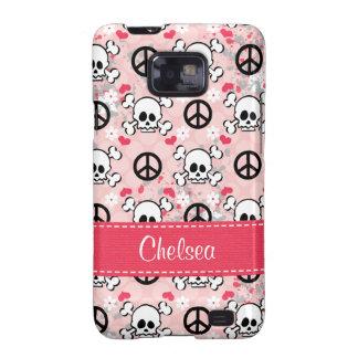 Pink Skull Crossbones Samsung Galaxy S Case Galaxy SII Cover
