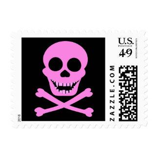 Pink Skull & Crossbones Stamps