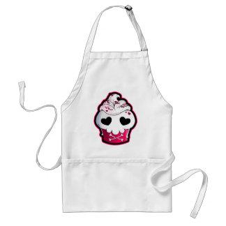 Pink Skull Cupcake Adult Apron