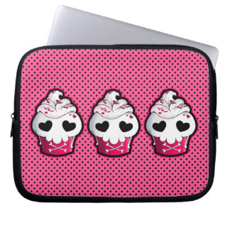 Pink Skull Cupcake Computer Sleeve