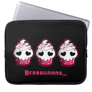 Pink Skull Cupcake Computer Sleeves