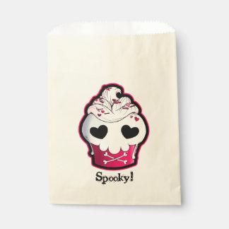Pink Skull Cupcake Favor Bag