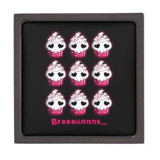 Pink Skull Cupcake Jewelry Box