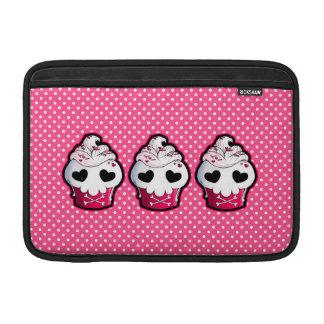 Pink Skull Cupcake MacBook Sleeves