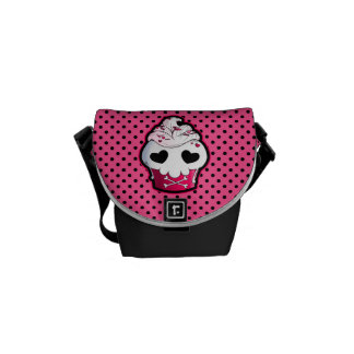 Pink Skull Cupcake Messenger Bag