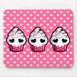 Pink Skull Cupcake Mouse Pad