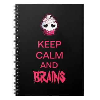 Pink Skull Cupcake Notebooks