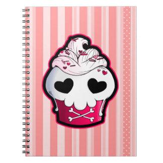 Pink Skull Cupcake Note Book