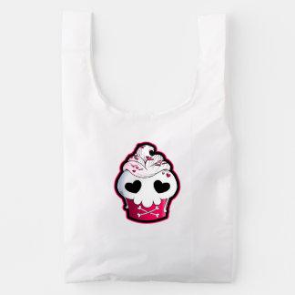 Pink Skull Cupcake Reusable Bag