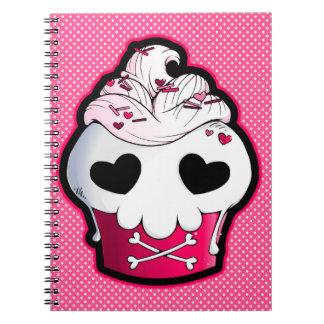 Pink Skull Cupcake Spiral Notebook