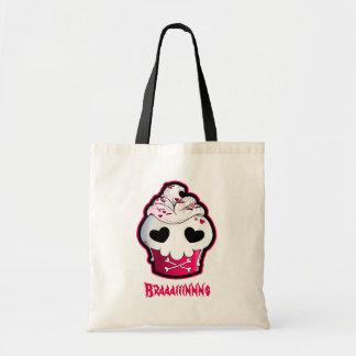 Pink Skull Cupcake Tote Bag