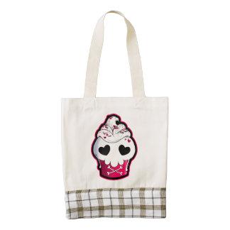 Pink Skull Cupcake Zazzle HEART Tote Bag