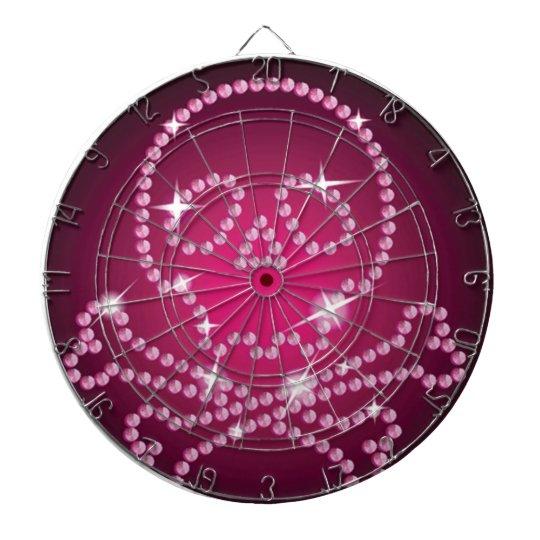 Pink Skull Dart Board