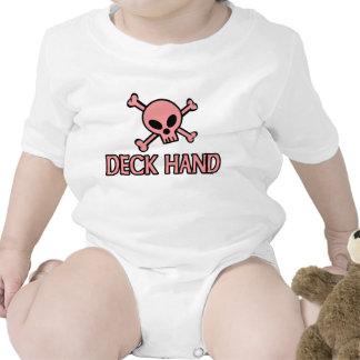 Pink Skull Deck Hand Shirts