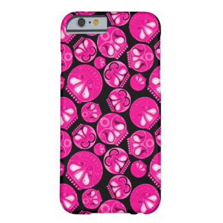 Pink Skull Diary Barely There iPhone 6 Case