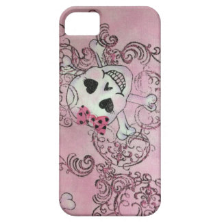 Pink Skull Girl Hot iPhone Case iPhone 5 Cases