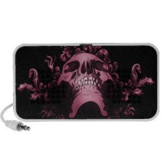 Pink Skull Grunge PC Speakers