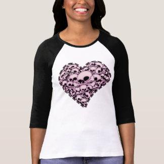Pink Skull Heart T-shirts