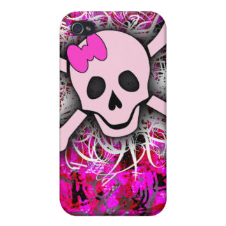 Pink Skull iPhone 4 Case