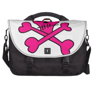 pink skull laptop bag
