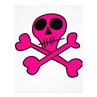 pink skull letterhead