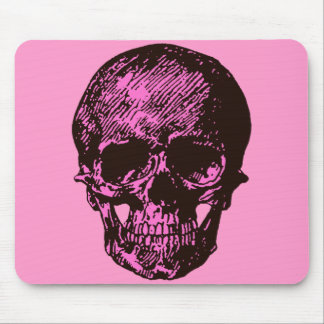 Pink Skull Mouse Pad
