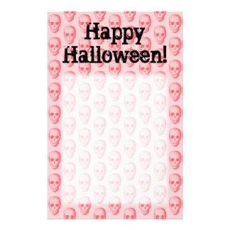 Pink Skull Pattern Halloween Custom Stationery
