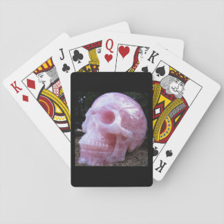 Pink Skull playing cards