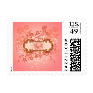 Pink skull postage